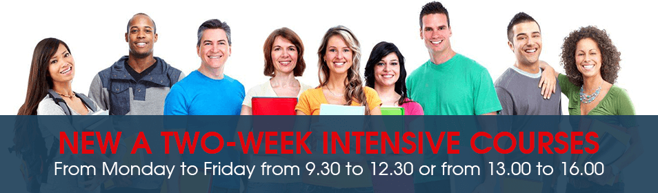 New a two week intensive courses from May