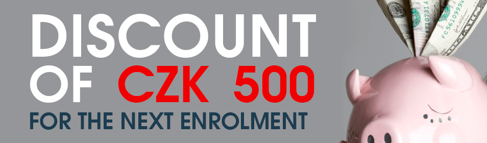 Discount of 500 CZK for the next enrolment