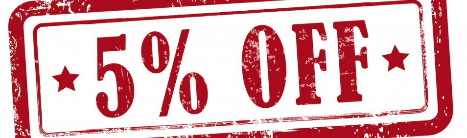 5% discount on all textbooks
