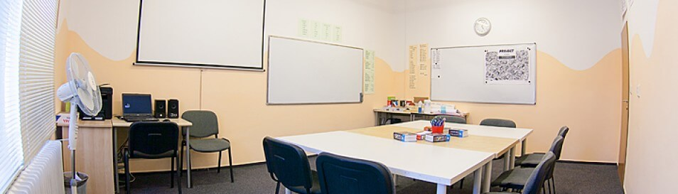 Classrooms equipped for modern language teaching